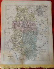Old Map 1900 France Département Meuse Bar-le-duc Verdun Varennes Commercy étain