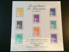 BLOC FRANCE N° 44 LES COULEURS DE MARIANNE EN EUROS 2002 NEUF
