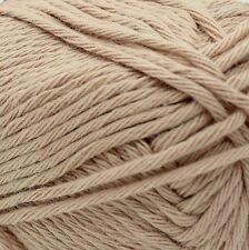 Rico Creative 100 Cotton Aran Knitting Crochet Wool Yarn 50g Balls Clay 51
