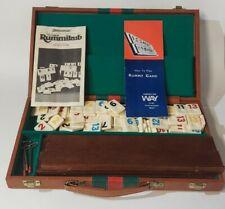 Vtg Rummikub Game Complete Set Pressman 1985 Faux Leather Gucci Style Case