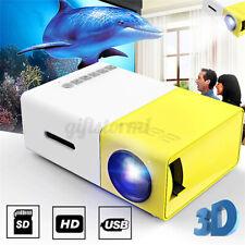 Tragbarer LED Projektor Mini Beamer Heimkino Media HD 1080P USB HDMI AV USB SD