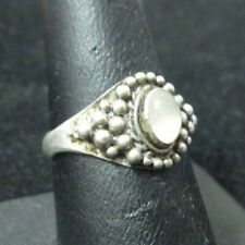 size ring size 8 with a moonstone