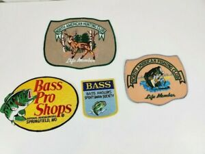 Vintage BASS Pro Shops North American Hunting Fishing Club Patches Large Patches