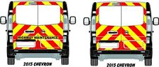 Reflective/ Chapter 8 3/4 Chevron kit Vauxhal Vivaro/ Traffic  Van 2015 graphics