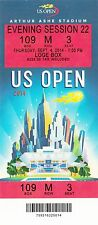 2014 US OPEN TENNIS FEDERER MCENROE BLAKE COURIER SESSION #22 TICKET STUB 9/4