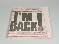 Michael Jordan I'M BACK! Chicago Sun-Times Newspaper COMPLETE  3/19/95