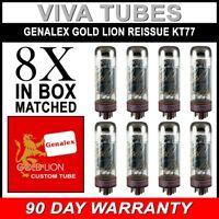 Brand New Genalex Reissue KT77 KT-77 Current Matched Octet (8) Vacuum Tubes