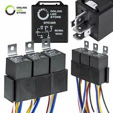 Online Led Store 5 Pack 12V 60/80 Amp Relay Switch Harness Set - Heavy Duty 5.