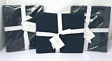 Pottery Barn Linen Diamond Shams Midnight Blue Set, 2 Standard , 1 Euro