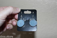 19 mm Length Druzy pair of Earrings from Brazil R375