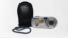 Sony Cyber-shot DSC-P73 4.1MP Digital Camera Silver 3X Zoom with Case Tested