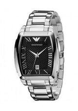Rechteckige Emporio Armani Armbanduhren mit Edelstahl-Armband