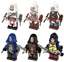 ASSASSIN'S CREED Mini Figura Confezione da 6. Made for Lego-Nuovo-UK STOCK Blocchi