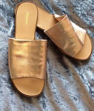 Dune ladies size 6 rose gold sandals new