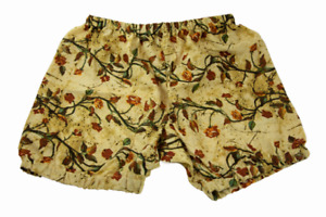 Floral Printed Yoga Shorts For Women - Pune Style Soft & Comfy, Autumn Blooms