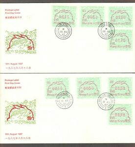 HONG KONG-'87-98 NY LABELS 28 COVERS(CPLT.12 YEARS)