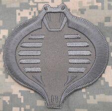 COBRA GI JOE USA ARMY TACTICAL MILITARY COMBAT MORALE BADGE ACU HOOK PATCH