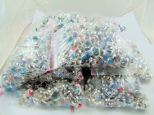 1000 PCS 10 KG 925 SILVER PLATED OVERLAY CABOCHON STONE RINGS WHOLESALE LOTS