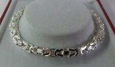 Sterling Silver Ladies Solid Byzantine Bracelet. 7.75 inch. 17.1g. Hallmarked.