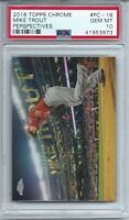 2016 TOPPS CHROME #PC-16 MIKE TROUT, PSA 10 GEM MINT, PERSPECTIVES VARIATION L@@