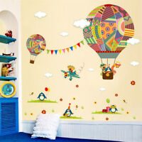 Cartoon Air Balloon Pattern Wall Stickers for Kids' Room Decoration Wall Art TP