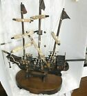 """Mayflower Replica Model Ship Over 100 Years Old 24"""" x 23"""" x 9.5"""" Removable Base"""
