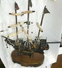 "Mayflower Replica Model Ship Over 100 Years Old 24"" x 23"" x 9.5"" Removable Base"