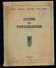Ecole Spéciale Militaire Inter Armes - Cours de Topographie - Coetquidan - 1949