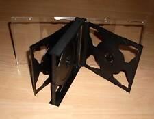 6 CD Hüllen schwarz durchsichtig für 6 CDs oder DVDs aufklappbar Box Case Neu