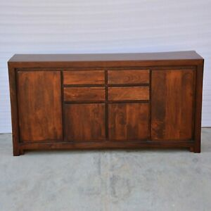 BOSTON Contemporary Mango Wood Sideboard Chocolate Brown (MADE TO ORDER)