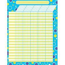 Blue Fizz - Large Vertical Incentive Wall Reward Chart