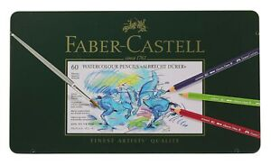 Faber-Castell Albrecht Durer Watercolor Pencil Tin, Set of 60 Colors (FC117560)