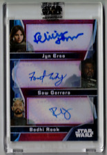 Jyn Erso Saw Gerrera Bodhi Rook Star Wars Signature Autograph Signed Red #1/1