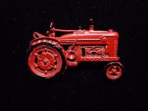 """JJ"" Jonette Jewelry Pewter 'RED Tractor ~ Farming Equipment' Pin #2"