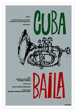 Cuban movie Poster.Cuba BAILA.Dances.Jazz music.Trumpet.Home room wall decor