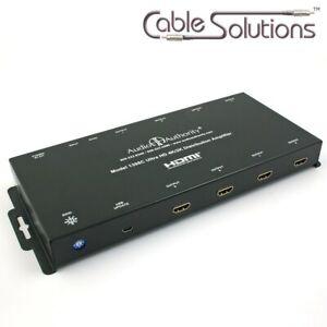 Audio Authority 1398C 4K Ultra-HD 1:8 HDMI Distribution Amplifier/Splitter w/3D