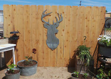 FREE SHIPPING Rustic Rusted Metal Corrugated  Deer Head  Wall Hanging  Large