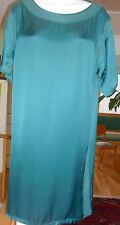 Lanvin PARIS Size 38 Teal Green  Front  Collar  Dress