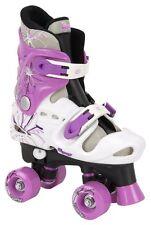 Osprey Girls Quad Skates Black White Purple Size 3-5 For Gift Outdoor Games