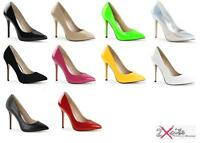 """PLEASER AMUSE 20 STILETTO 5"""" HIGH HEEL POINTED COURT SHOES FASHION CLEARANCE"""