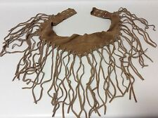 Vintage Coachella style suede belt with fringes!