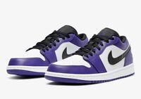 "Nike Air Jordan 1 Low ""Court Purple"" 553558-500 Brand New Mens Size 8-13"