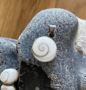 Shivas Auge 925er Silber Set Schmuck Anhänger Ring Armband