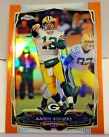 Aaron Rodgers 2014 Topps Chrome Retail Exclusive Orange Refractor #83 Packers