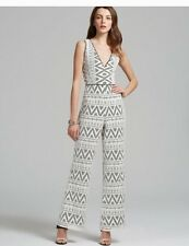 Dolce Vita Jumpsuit Rianna Black White Lace 70's Style NWT Size Small S