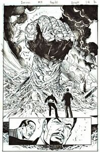 JOE BENNETT 2014 IRON MAN SPLASH ORIGINAL INK ART-TONY STARK!