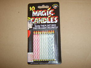 10,Magic Re-lighting Candles. For Birthdays,Celebrations etc.Guaranteed Delivery