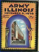 1929 college football program Army Cadets v Illinois Fighting Illini