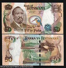 BOTSWANA 50 PULA P28 2005 BOAT KING FISHER ZEBRA FISH EAGLE UNC AFRICA NOTE