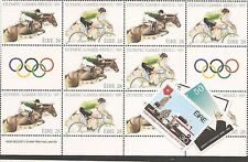 Ireland Olympics SC 712-13 Sheetlet of 10 and 711, 714-5 MNH (6cej)